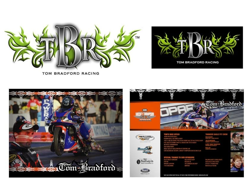 Bradford NHRA Racing logos and marketing