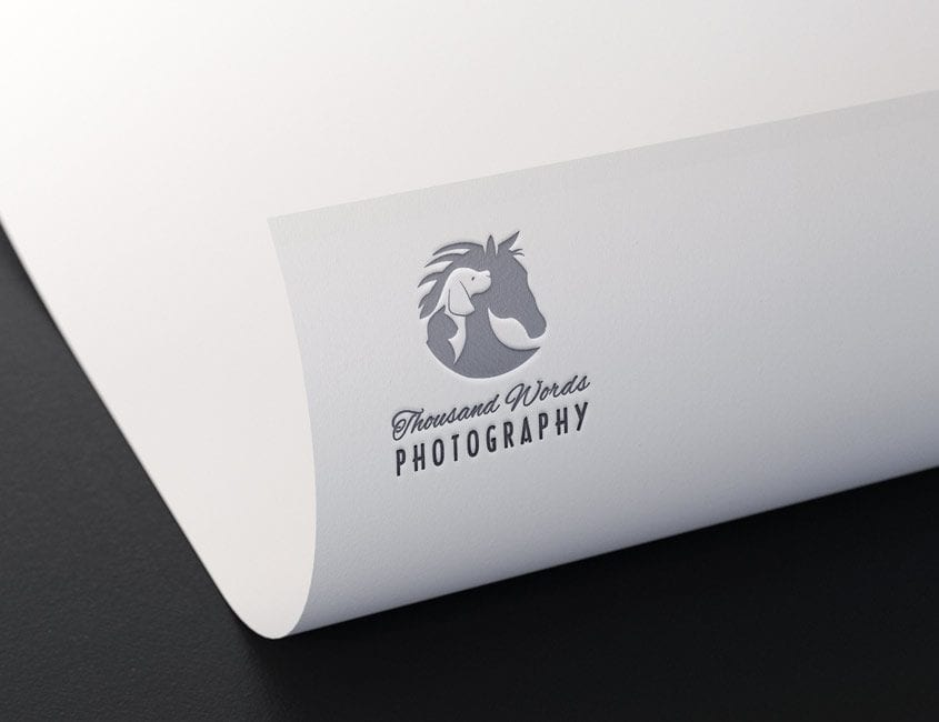Logo embossed on stationary
