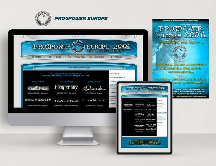 Rock Festival Web Design & Graphic Design
