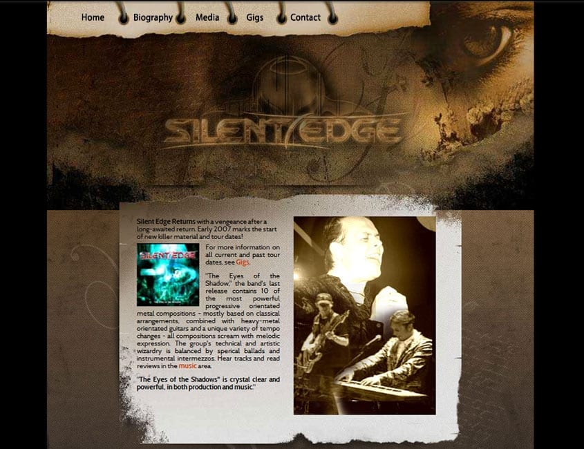Metal Band Website Design (Silent Edge, Netherlands)
