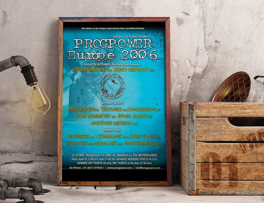 Progpower Europe 2006 Music Festival Poster Design