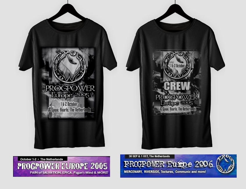 Rock Concert T-shrt Design and Web Banners