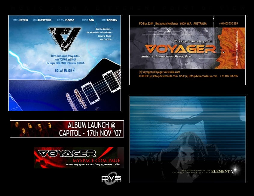 Voyager Australia Band Design and Marketing