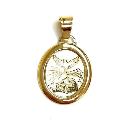 Oval Baptism (Made in Italy) Pendant 14K Yellow Gold