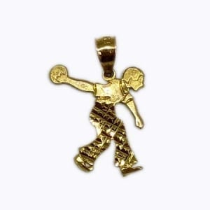 Bowling Pendant 14K Yellow Gold