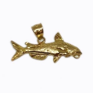 Shark Pendant in 14K Yellow Gold