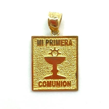 Classic FIRST COMMUNION Pendant 14K Yellow Gold