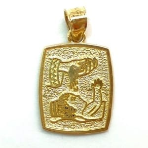 Baby Baptised Pendant 14K Yellow Gold